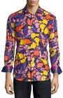 robert graham limited edition floralprint sport shirt purple