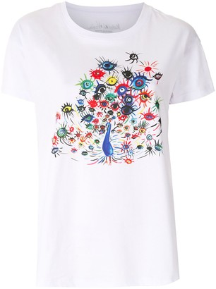 Armani Exchange Peacock-Eye Print T-Shirt