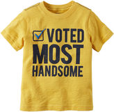 Carter's Short-Sleeve Yellow Handsome Slogan Knit Tee - Boys 4-8