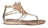 Rene Caovilla Ethnic strass embroidery snakeskin leather sandals