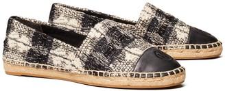 Tory Burch Wool Color-Block Flat Espadrille
