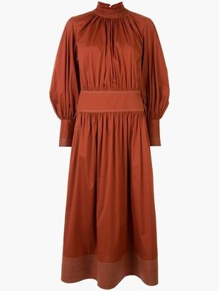 Lee Mathews Sara belted flared dress