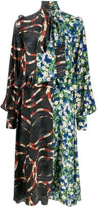 Rokh Two Tone Ruffle Dress