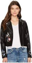 Bishop + Young Embroidered Moto Jacket Women's Coat