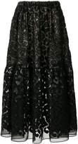 Stella McCartney textured sheer skirt