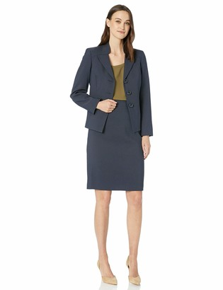 Le Suit LeSuit Women's 3 Button Pique Skirt Suit