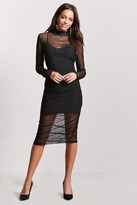 Forever 21 Sheer Mesh Twofer Dress