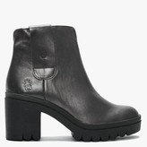 Fly London Tine Smoke Leather Ankle Boots
