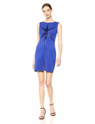 SHO Women's SLVLESS Neoprene Dress W/Sequin DTL