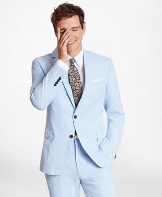 Brooks Brothers Regent Fit Houndstooth Seersucker Sport Coat