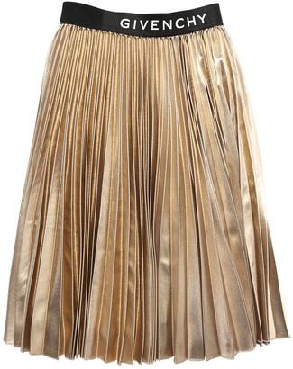 Givenchy Logo Pleated Midi Skirt