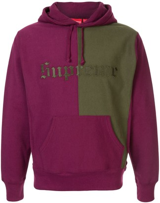 Supreme split old english hoodie