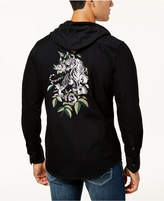 INC International Concepts I.n.c. Men's Embroidered Tiger Hooded Shirt, Created for Macy's