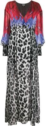 Just Cavalli feather print dress