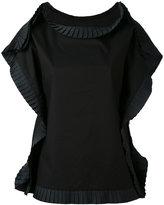 MM6 MAISON MARGIELA rouched outline square T-shirt - women - Cotton - 44