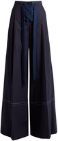 Sonia Rykiel High-rise cotton wide-leg trousers