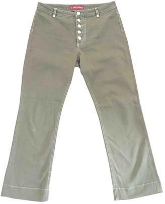 ALEXACHUNG Alexa Chung Khaki Cotton - elasthane Jeans