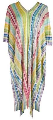 Missoni Multicolor Stripe Fringe Poncho