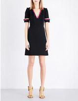 Gucci Ruffled-trims stretch-crepe dress