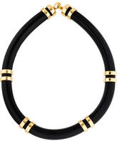 Lizzie Fortunato Double-Take Leather Tube Necklace