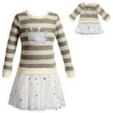 Dollie & Me Girls 4-14 Crown Sweater Dress