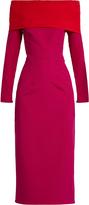 Emilio De La Morena Tasman bi-colour silk-blend dress