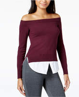 Maison Jules Off-The-Shoulder Sweater, Created for Macy's