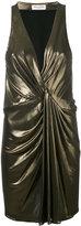 Saint Laurent metallic dress - women - Silk/Viscose - 40