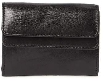 Tusk Double Flap Leather Mini Wallet