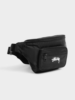 Stussy Stock Pocket Waist Bag in Black