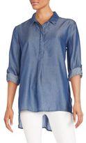 Nic+Zoe Draped Denim Shirt