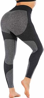 JGS1996 Women's Seamless High Waisted Yoga Leggings Stretch Gym Workout Running Leggings
