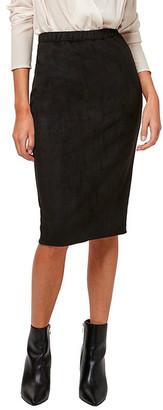Astars Charlize Vegan Suede Pencil Skirt
