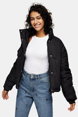 Topshop Womens Black Padded Puffer Jacket - Black