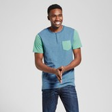 Mossimo Men's Short Sleeve Color Block Henley with Pocket Green
