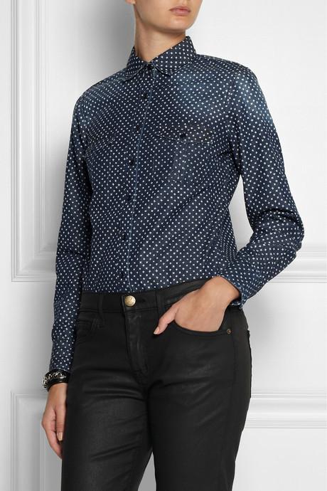 J.Crew Keeper star-print denim shirt