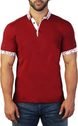 Maceoo Men's Mozart Flower Polo Shirt