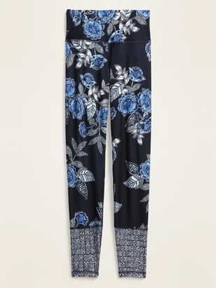 Old Navy High-Waisted Elevate 7/8-Length Floral-Print Leggings for Women