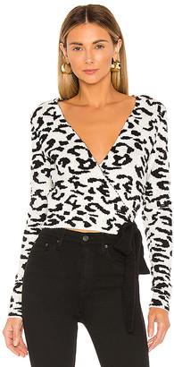 Lovers + Friends Leopard Wrap Sweater