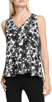 Vince Camuto Lace Print Sleeveless Blouse