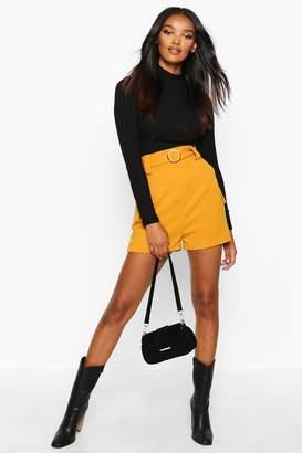 boohoo Gold O Ring Pocket Side Shorts
