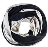 Black Champagne Silk and Cashmere Snood