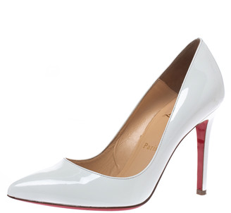 Christian Louboutin White Patent Leather So Kate Pointed Toe Pumps Size 37