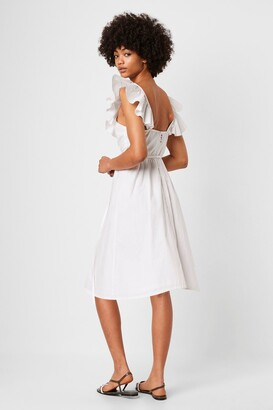 French Connection Azana Ruffle V-Neck Midi Dress
