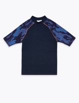 Marks and Spencer Camo Print Long Sleeve Rash Vest (6-16 Years)