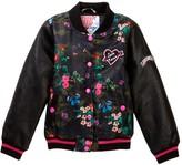 KensieGirl Varsity Jacket with Patches (Big Girls)