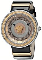 Versace Women's VLC050014 V-Metal Icon Analog Display Swiss Quartz Black Watch