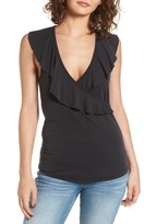 LIRA Bella Ruffle Surplice Top