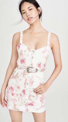 For Love & Lemons Weston Denim Mini Dress