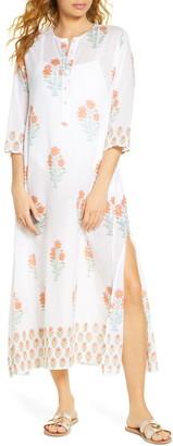 Roller Rabbit Borem Floral Cover-Up Maxi Dress